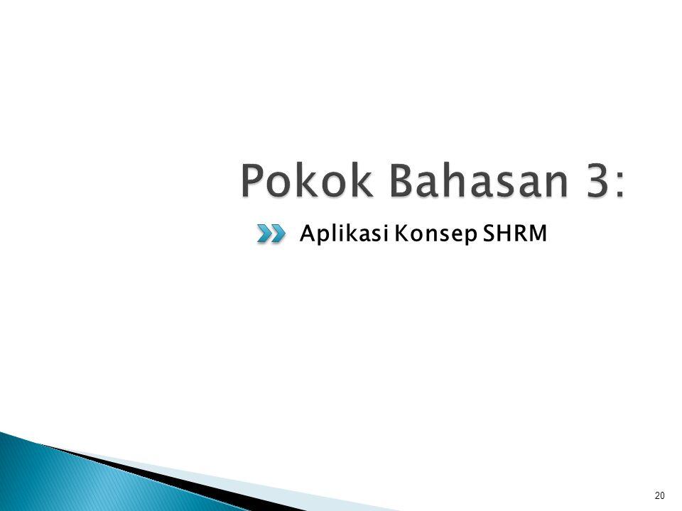 Aplikasi Konsep SHRM 20