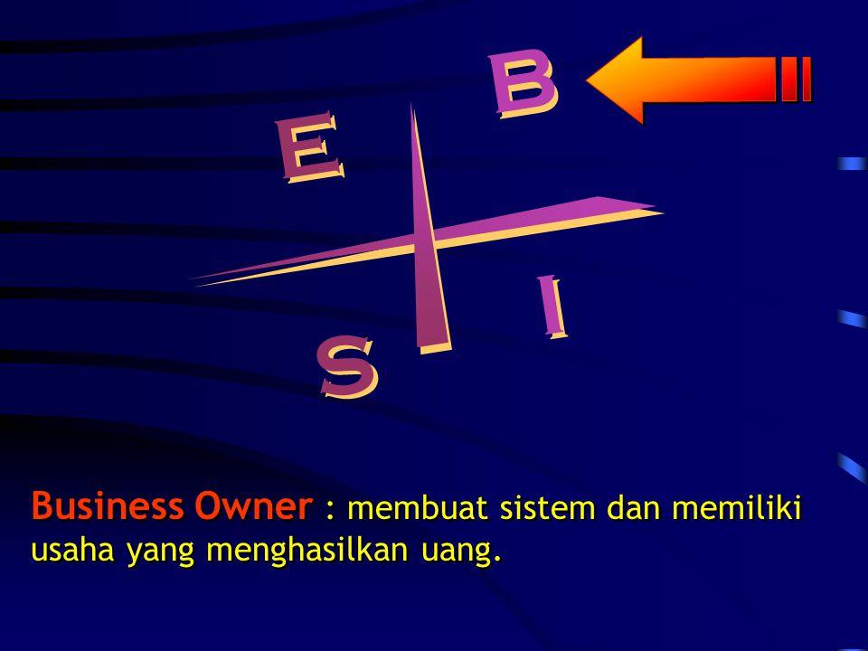 B B E E S S I I Self Employed : mendapat uang dengan bekerja untuk diri sendiri dengan keahliannya, misalkan dokter, penyanyi, artis film, dll.