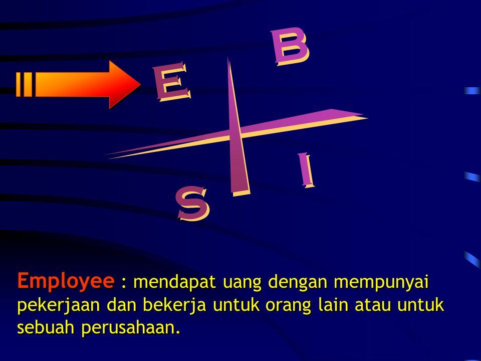 B B E E S S I I Employee : mendapat uang dengan mempunyai pekerjaan dan bekerja untuk orang lain atau untuk sebuah perusahaan.