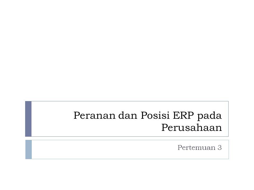 Peranan dan Posisi ERP pada Perusahaan Pertemuan 3