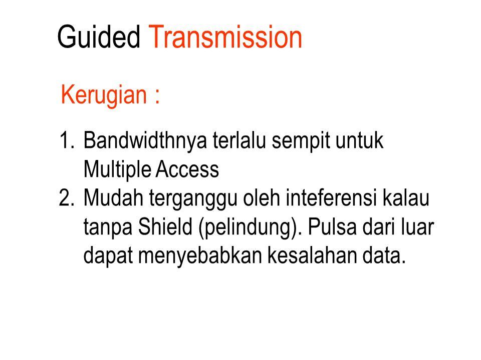 1. Bandwidthnya terlalu sempit untuk Multiple Access 2. Mudah terganggu oleh inteferensi kalau tanpa Shield (pelindung). Pulsa dari luar dapat menyeba