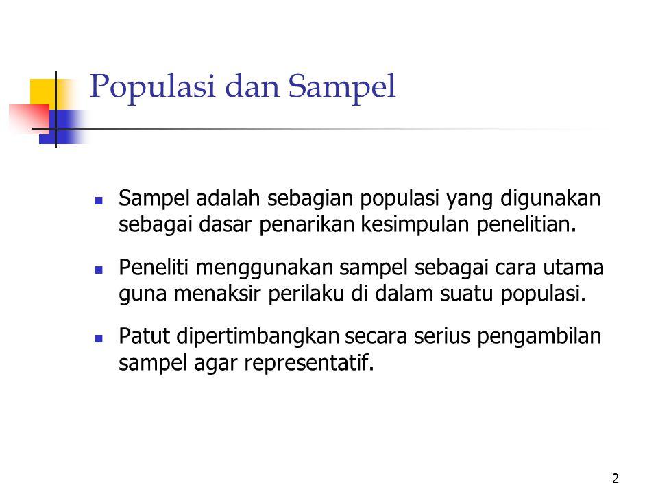Purposive Sampling digunakan dalam 3 situasi.