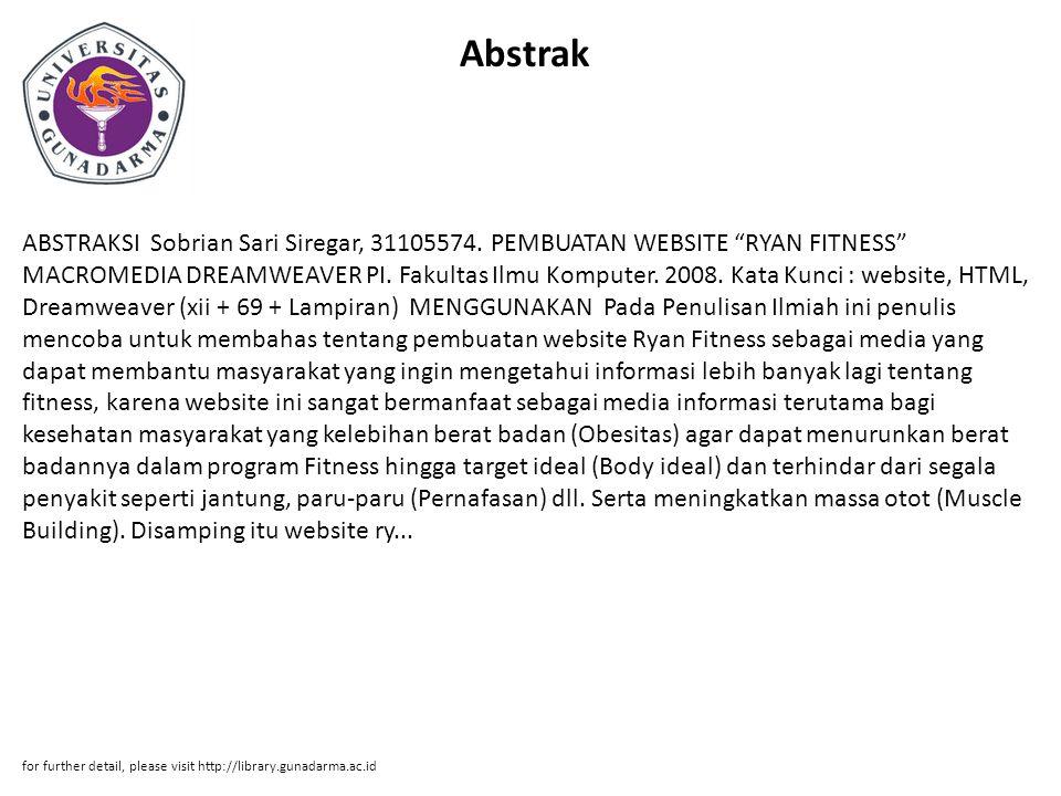 Abstrak ABSTRAKSI Sobrian Sari Siregar, 31105574.