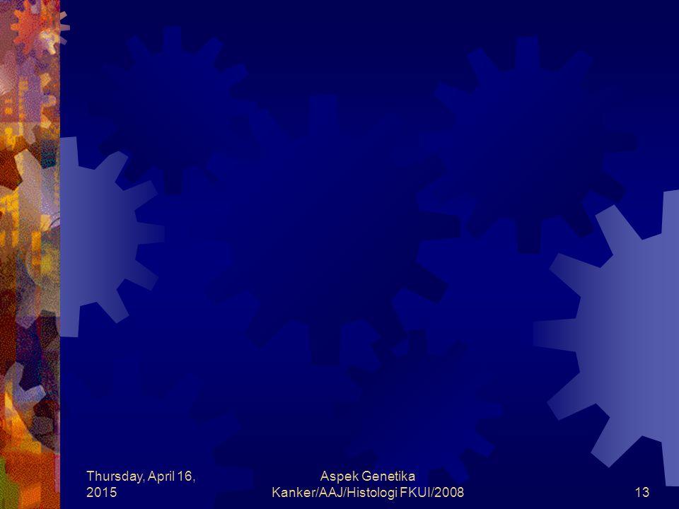 Thursday, April 16, 2015 Aspek Genetika Kanker/AAJ/Histologi FKUI/200813