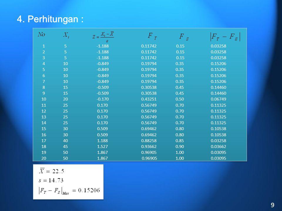 4. Perhitungan : 9