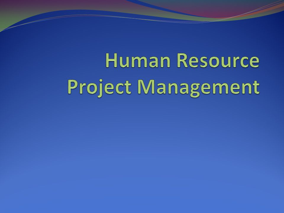 Using Software to Assist in Human Resource Management Software can help in producing RAMs and resource histograms Project management software includes several features related to human resource management such as viewing resource usage information identifying under and overallocated resources leveling resources