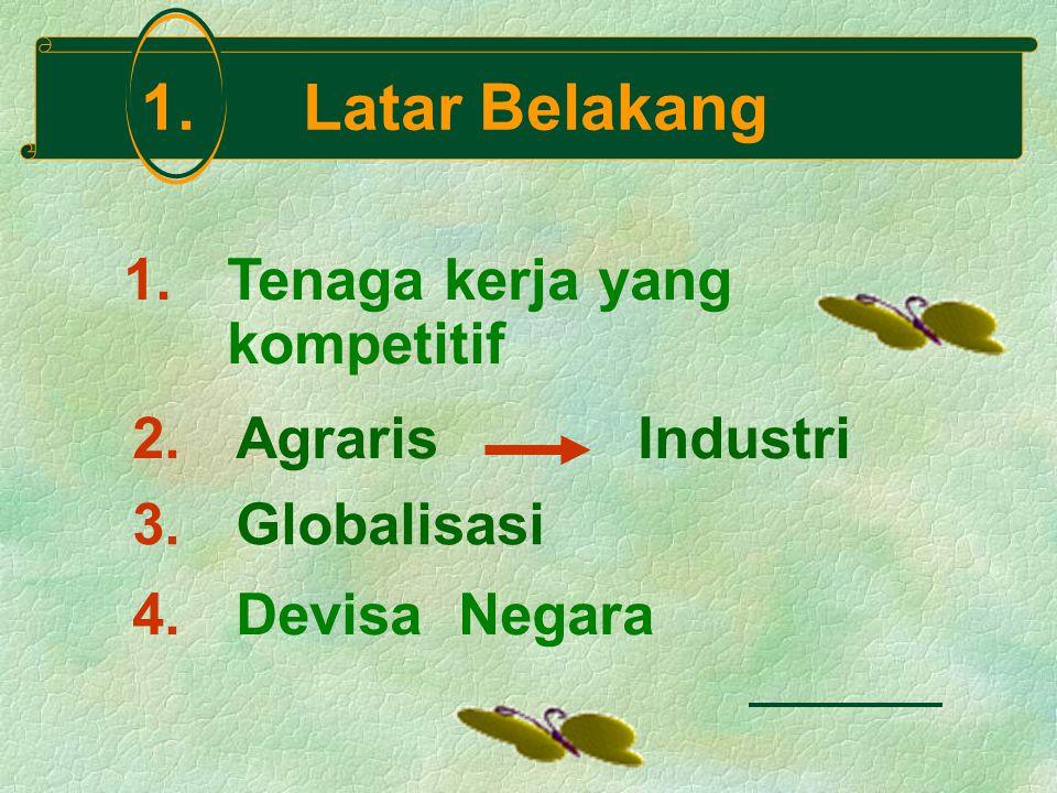 1. Latar Belakang 1. Tenaga kerja yang kompetitif 3.