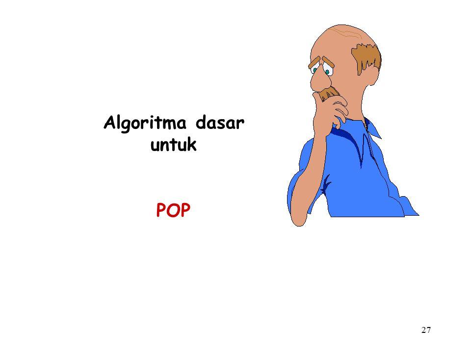 27 Algoritma dasar untuk POP