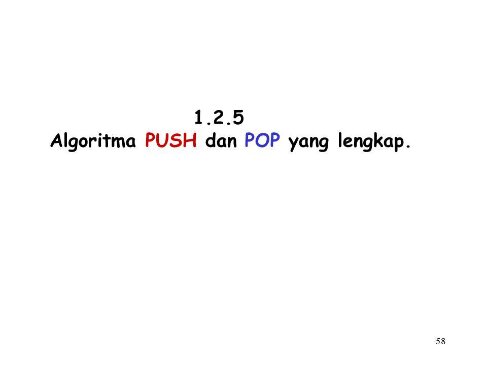 58 1.2.5 Algoritma PUSH dan POP yang lengkap.