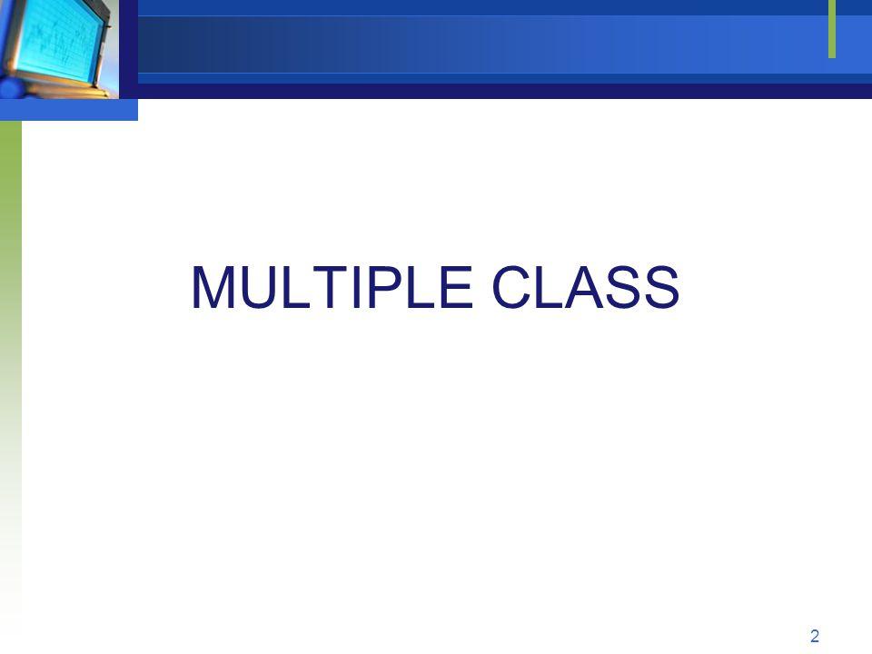 MULTIPLE CLASS 2