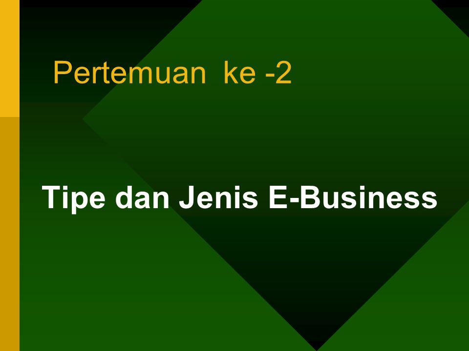 Pertemuan ke -2 Tipe dan Jenis E-Business