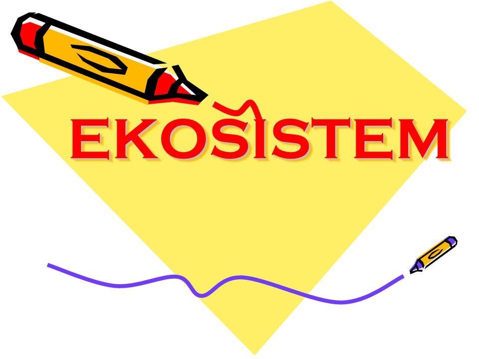 a.Ekosistem darat Ekosistem darat ialah ekosistem yang lingkungan fisiknya berupa daratan.