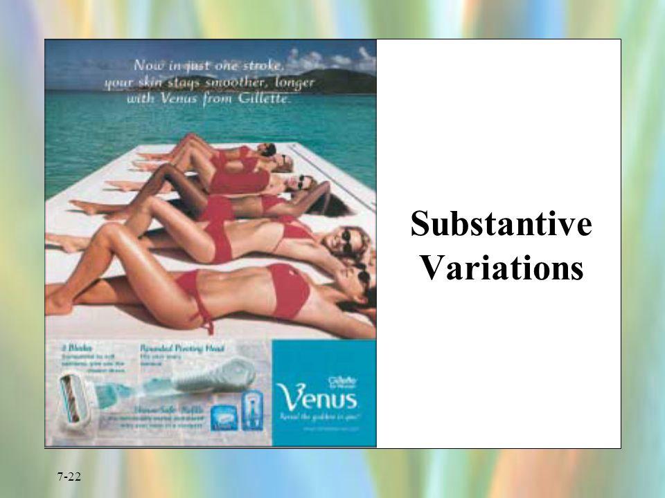 7-22 Substantive Variations