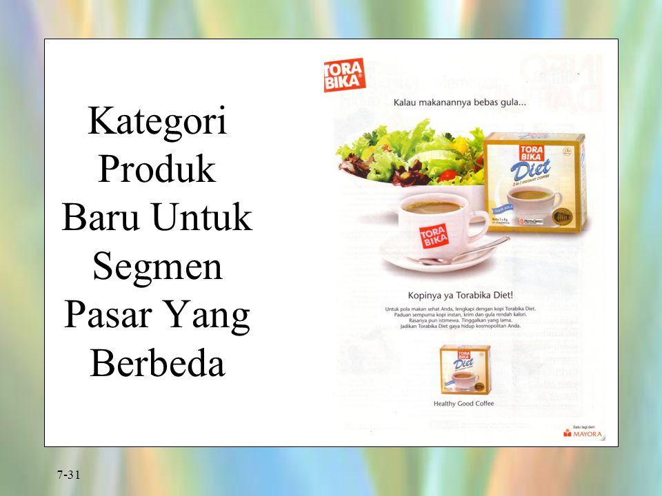 7-31 Kategori Produk Baru Untuk Segmen Pasar Yang Berbeda