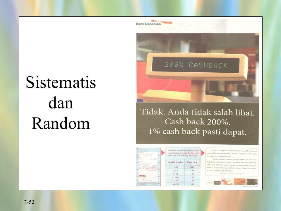 7-52 Sistematis dan Random
