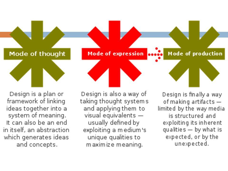 Methods and the design process Tentukan secara bersama mengenai metode desain yang hendak digunakan untuk merumuskan sebuah masalah.