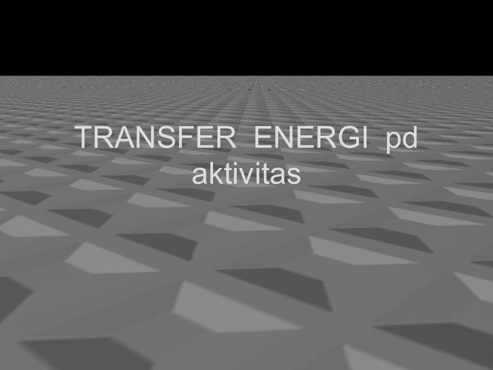 TRANSFER ENERGI pd aktivitas