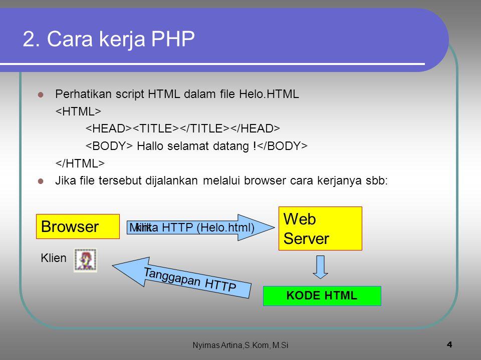 """3 1. Pengertian PHP PHP singkatan dari """"PHP Hypertext Preprocessor"""" Dirancang untuk membentuk web dinamis Memiliki fungsi yang sama dengan ASP, Cold F"""