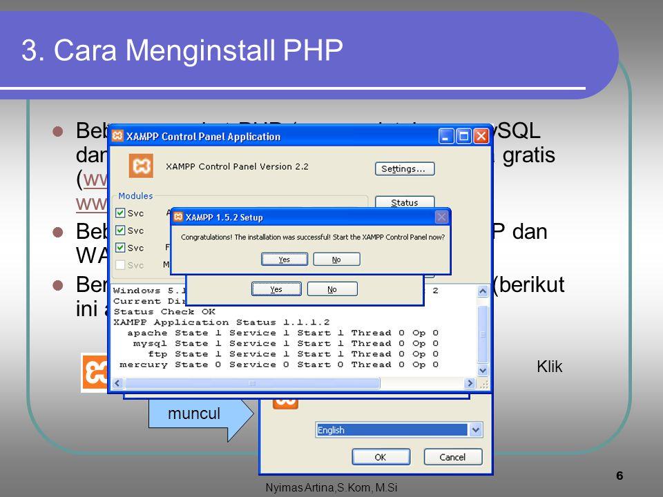 """5 2. Cara kerja PHP (lanjutan) Perhatikan script PHP dalam HTML dalam file Helo.php <?php print(""""Hallo selamat datang !""""); ?> Jika file tersebut dijal"""