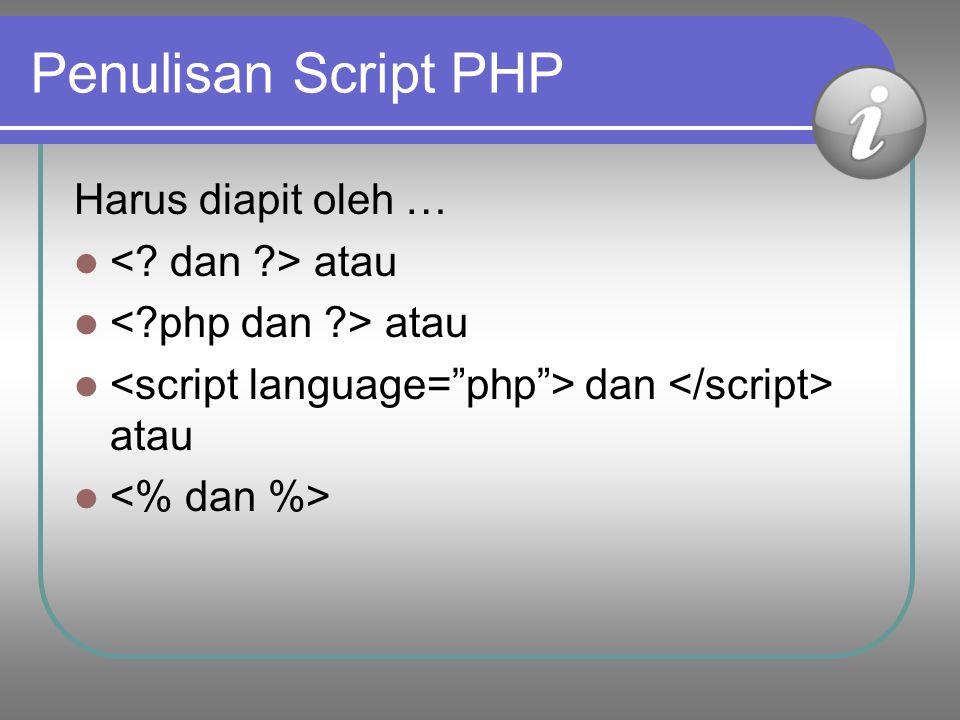 7 4. Menjalankan PHP Setelah paket PHP XAMPP (atau yang lain) diinstall maka server (apache) diaktifkan, database (mySql) diaktifkan Konfigurasi progr