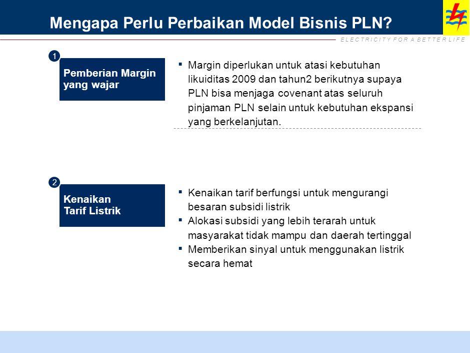 E L E C T R I C I T Y F O R A B E T T E R L I F E Mengapa Perlu Perbaikan Model Bisnis PLN.