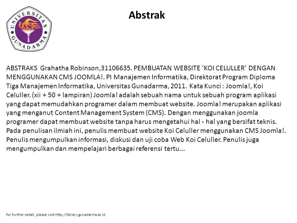 Abstrak ABSTRAKS Grahatha Robinson,31106635.
