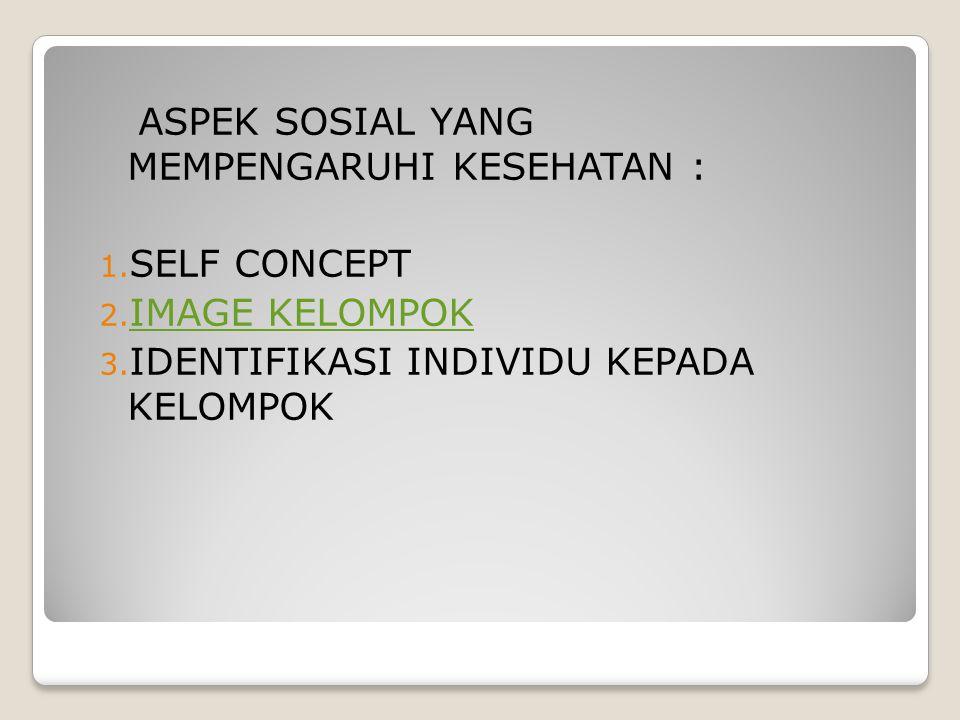 ASPEK SOSIAL YANG MEMPENGARUHI KESEHATAN : 1.SELF CONCEPT 2.