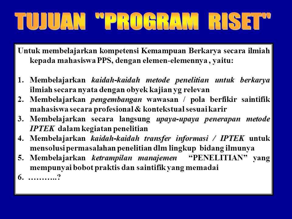 SUBSTANSI PENELITIAN Research Topic: Research Problem: Research Question:
