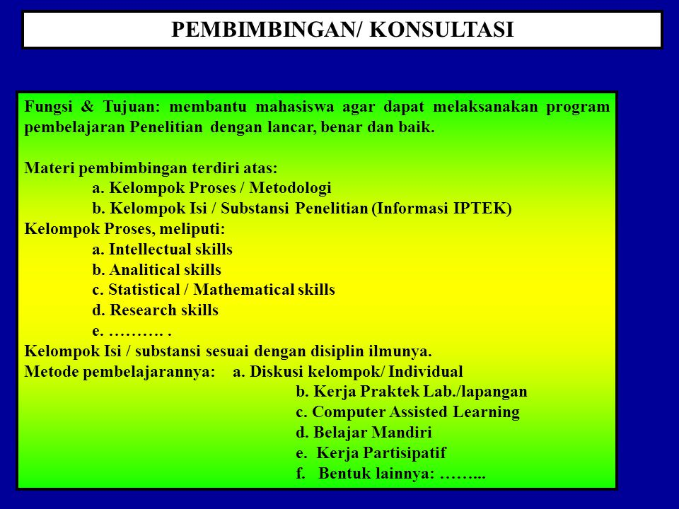 POKOK-POKOK TESIS-DISERTASI 1. Menjadi bagian integral Kurikulum 2. Mengikuti kaidah-kaidah kurikulum berbasis kompetensi 3. Diprogramkan dalam KRS ma