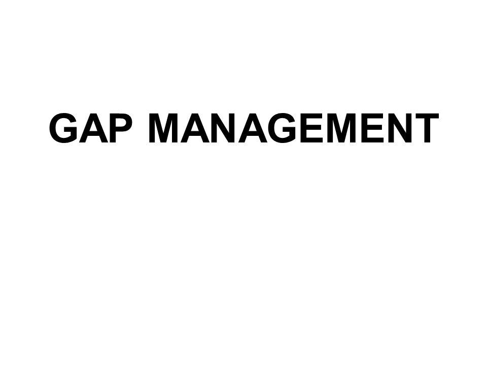 Pengertian Gap : perbedaan atau selisih antara asset yang sensitif terhadap suku bunga (Rate Sensitive Asset/RSA) dengan liability yang sensitif terhadap suku bunga (Rate Sensitive Liabilities/RSL)