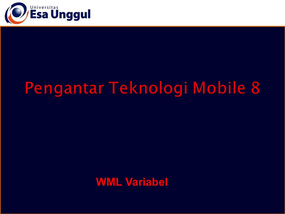 WML Variabel