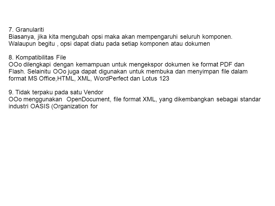FITURE OPENOFFICE.ORG 1.