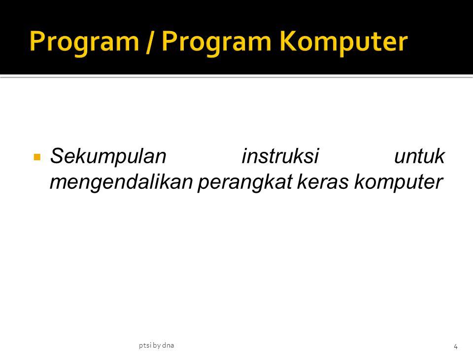  Sekumpulan instruksi untuk mengendalikan perangkat keras komputer 4ptsi by dna