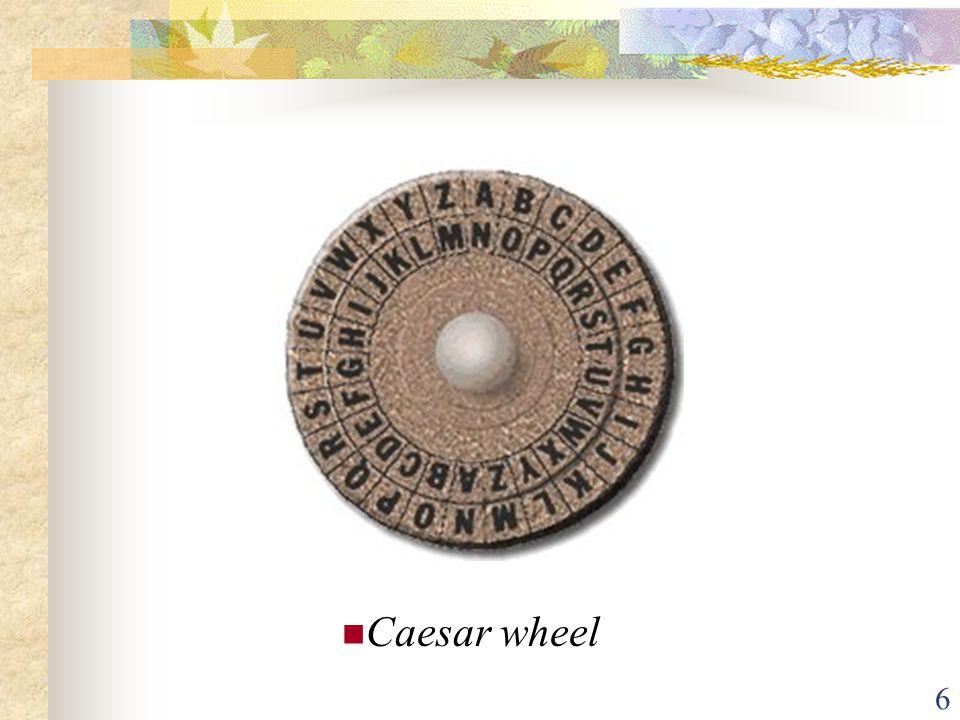 6 Caesar wheel