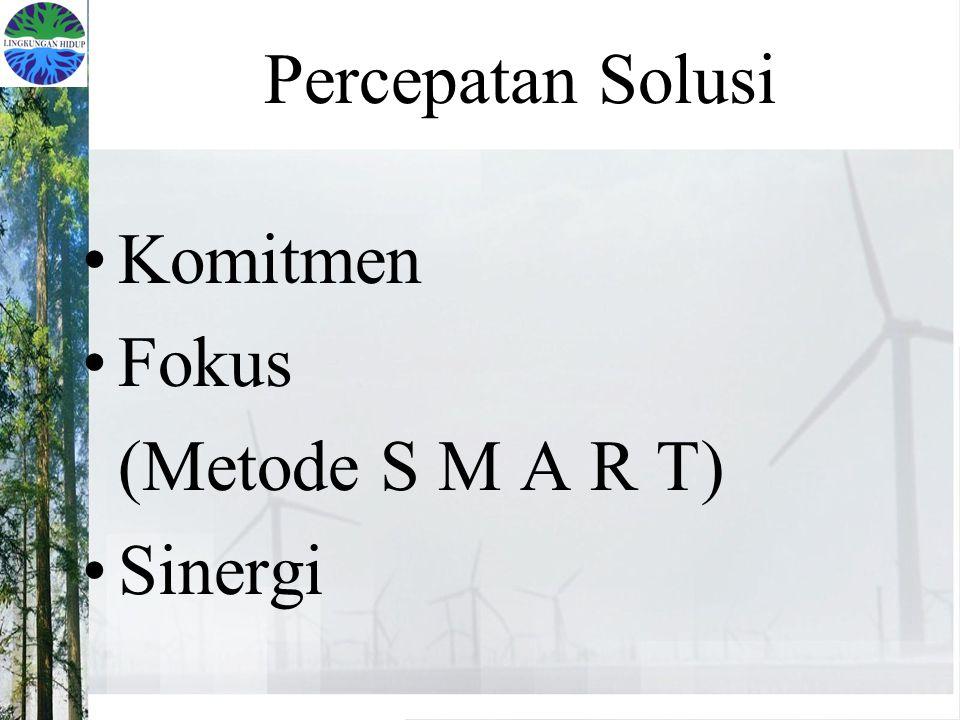 Percepatan Solusi Komitmen Fokus (Metode S M A R T) Sinergi