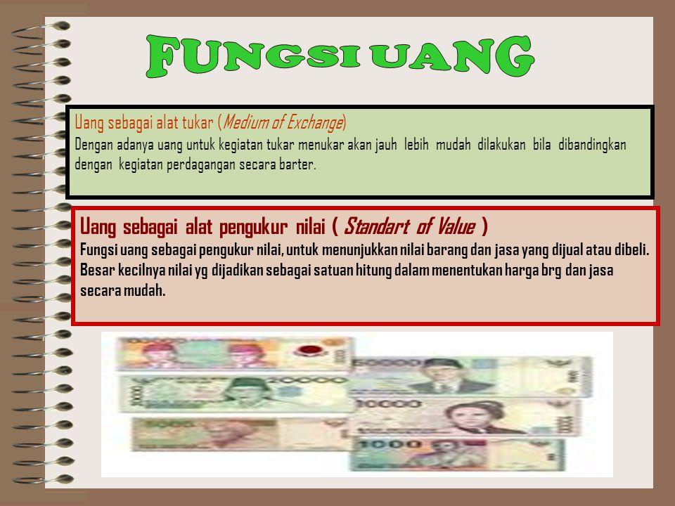 Uang Sebagai Komoditi Bisnis Uang merupakan sebuah komoditi (barang dagangan).