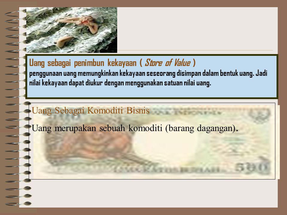 Emas, perak, dan perunggu Uang kartal (Currencies) Uang Giral (Deposit Money) 1.