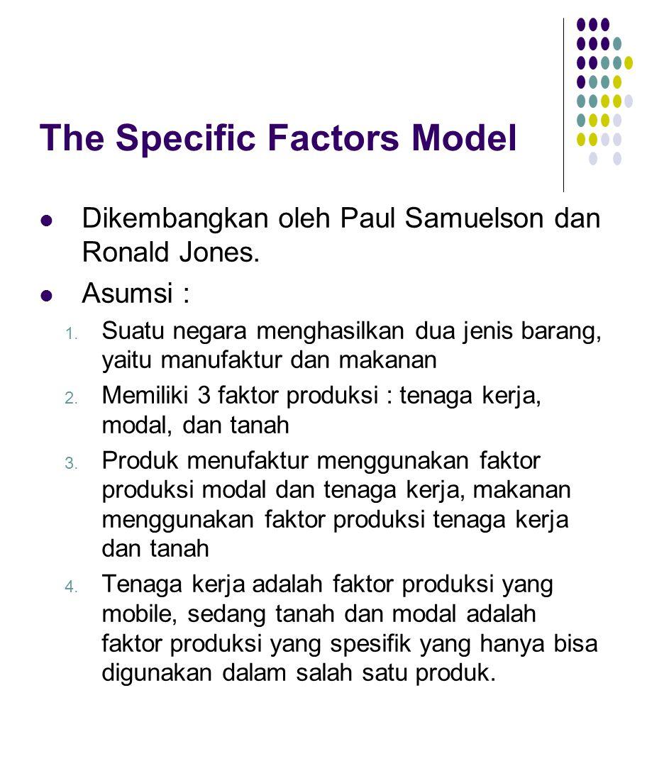 The Specific Factors Model Dikembangkan oleh Paul Samuelson dan Ronald Jones.