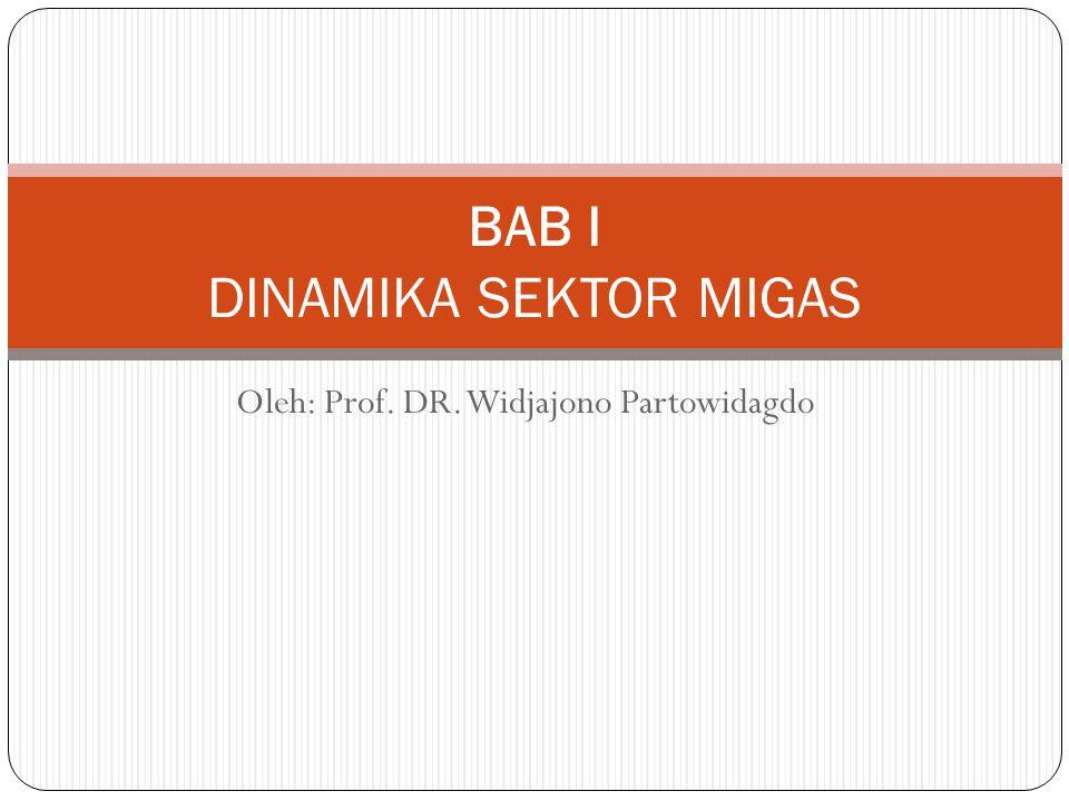 Oleh: Prof. DR. Widjajono Partowidagdo BAB I DINAMIKA SEKTOR MIGAS