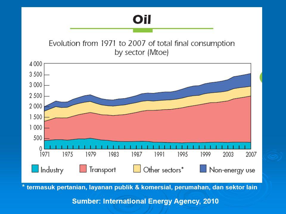 * termasuk pertanian, layanan publik & komersial, perumahan, dan sektor lain Sumber: International Energy Agency, 2010