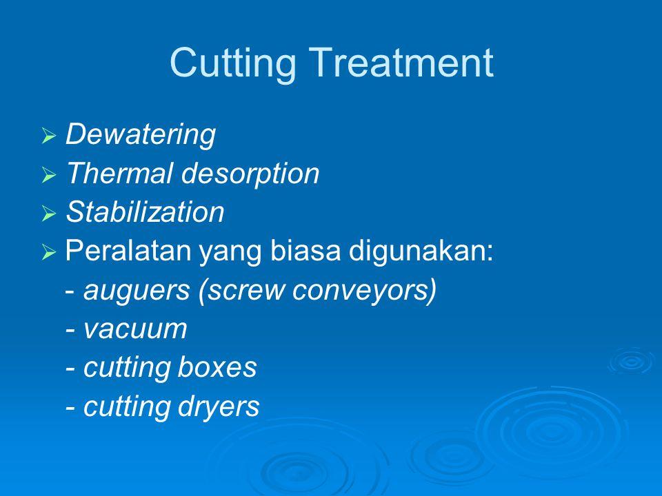 Cutting Dryer Sebelum dimasukkan ke dryer, kandungan drilling fluid dalam cutting  10%.