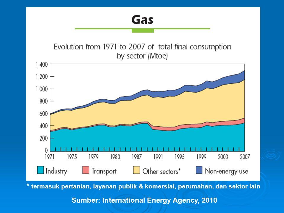 * tidak termasuk China Sumber: International Energy Agency, 2010