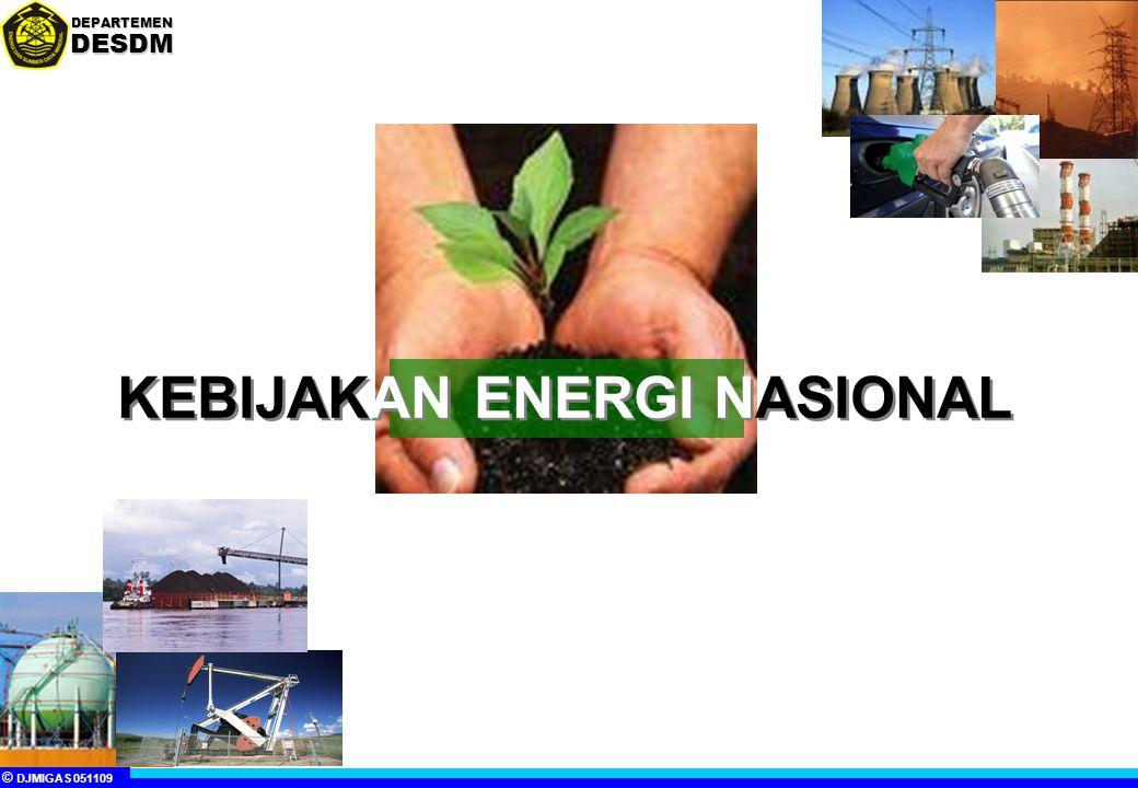 © DJMIGAS 051109 DEPARTEMENDESDM KEBIJAKAN ENERGI NASIONAL