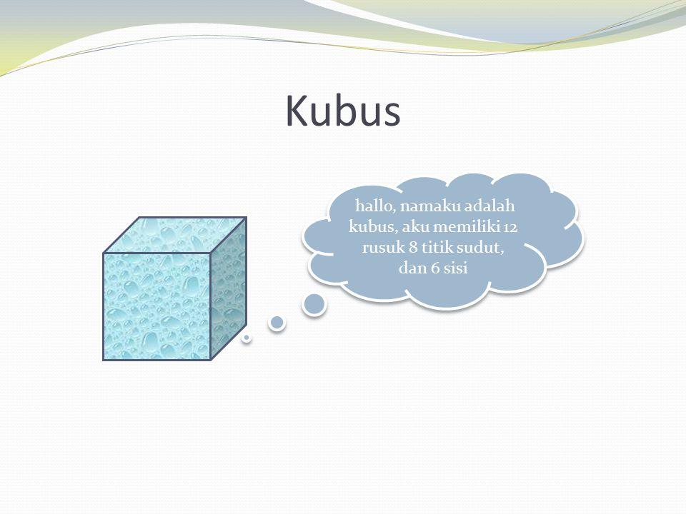 Balok aku adalah balok ciri2 ku sama seperti kubus, hanya 1 yang brbeda jika kubus:persegi, jika aku/balok:persegi panjang