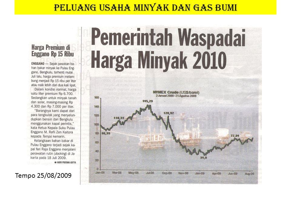 PELUANG USAHA MINYAK DAN GAS BUMI Tempo 25/08/2009
