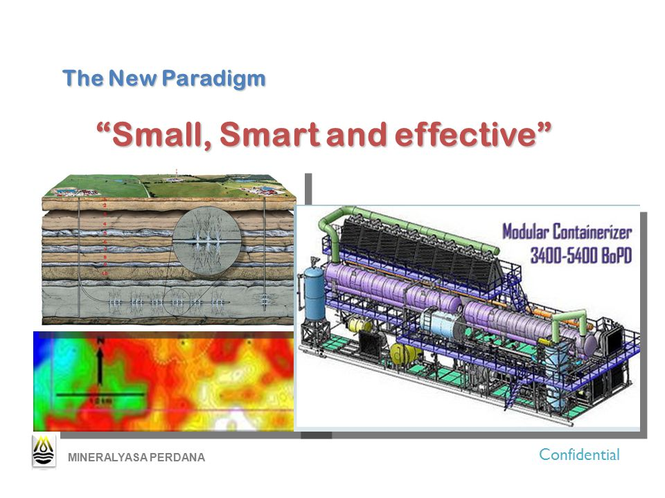 "The New Paradigm ""Small, Smart and effective"" Confidential MINERALYASA PERDANA"