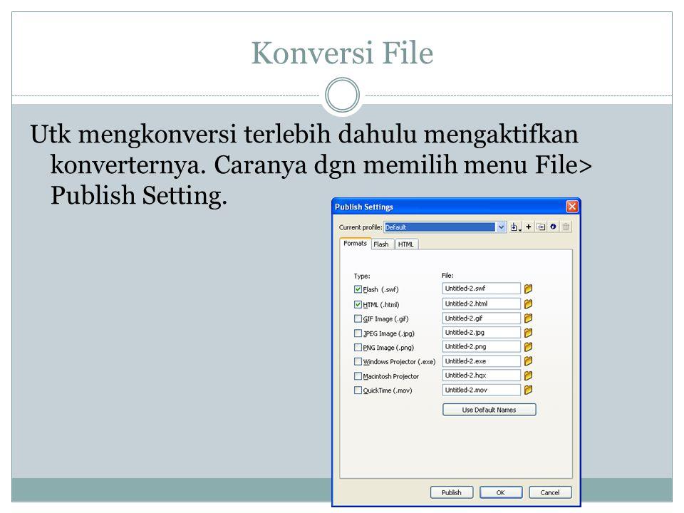 Konversi File Utk mengkonversi terlebih dahulu mengaktifkan konverternya.