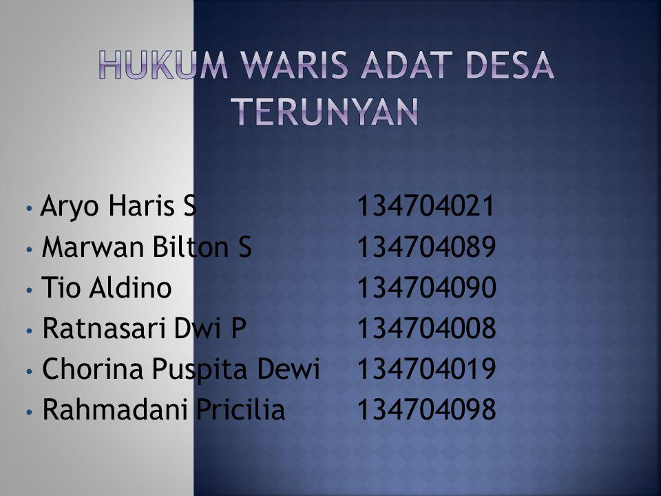 Aryo Haris S134704021 Marwan Bilton S134704089 Tio Aldino 134704090 Ratnasari Dwi P134704008 Chorina Puspita Dewi134704019 Rahmadani Pricilia134704098
