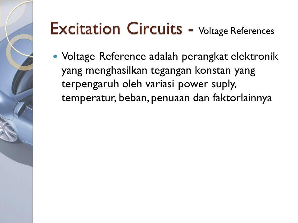 Excitation Circuits - Excitation Circuits - Voltage References Voltage Reference adalah perangkat elektronik yang menghasilkan tegangan konstan yang terpengaruh oleh variasi power suply, temperatur, beban, penuaan dan faktorlainnya