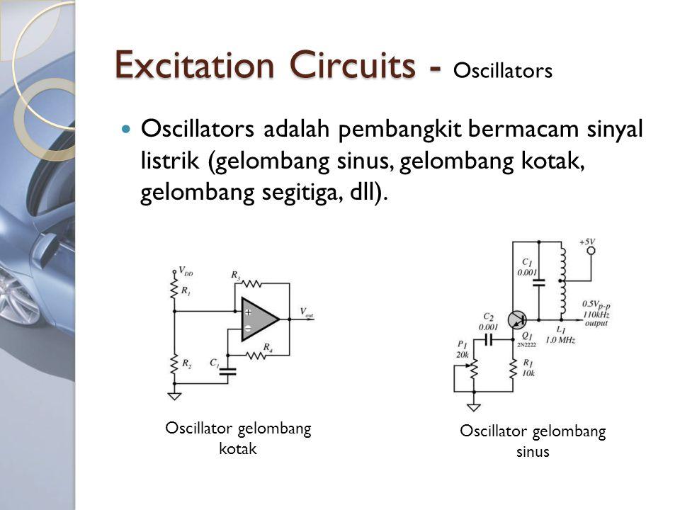 Excitation Circuits - Excitation Circuits - Oscillators Oscillators adalah pembangkit bermacam sinyal listrik (gelombang sinus, gelombang kotak, gelombang segitiga, dll).